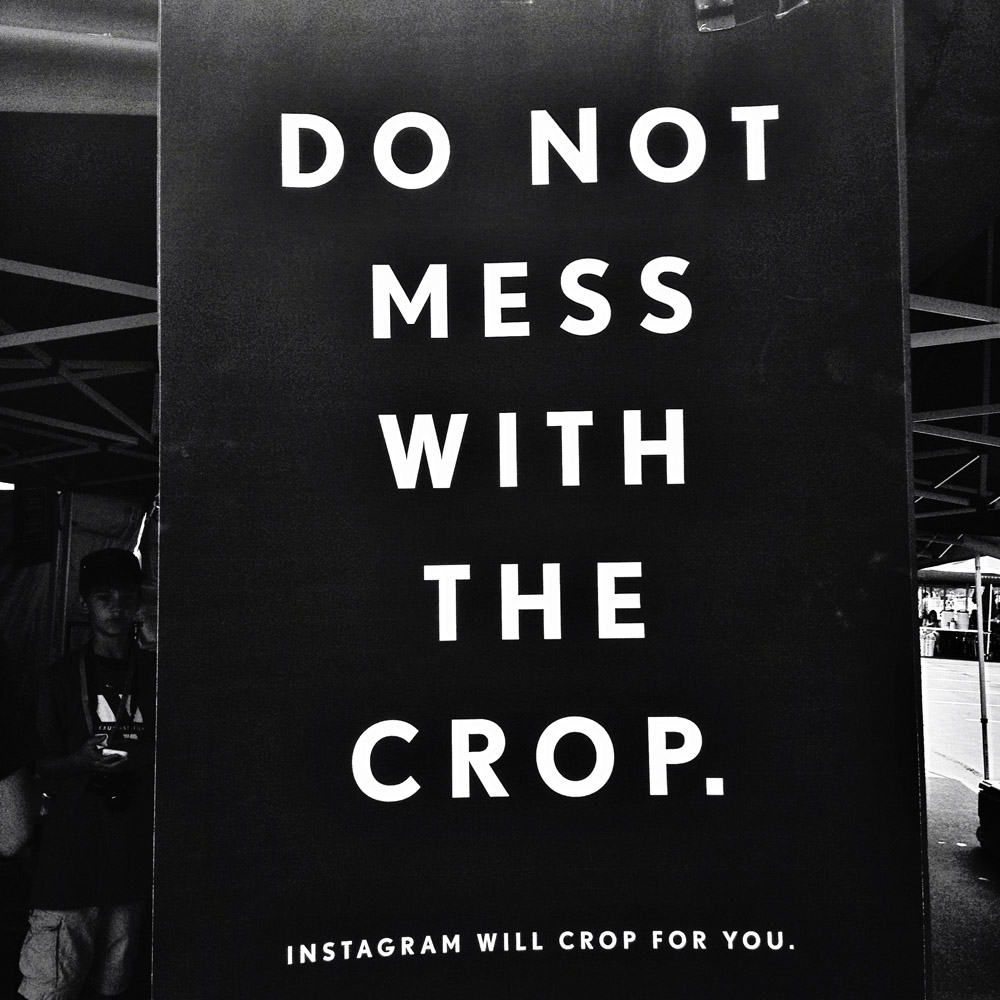 Do Not Mess With The Crop